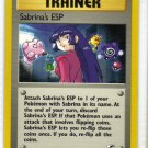 Pokemon Card Gym Heroes Sabrina's ESP