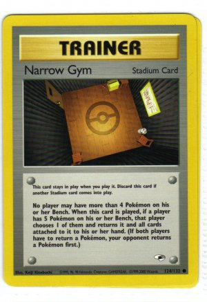 Pokemon Card Gym Heroes Trainer Narrow Gym