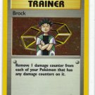Pokemon Card Gym Heroes Holo Trainer Brock