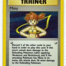 Pokemon Card Gym Heroes Holo TrainerMisty