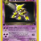 Pokemon Card Team Rocket  Dark Alakazam 18/82