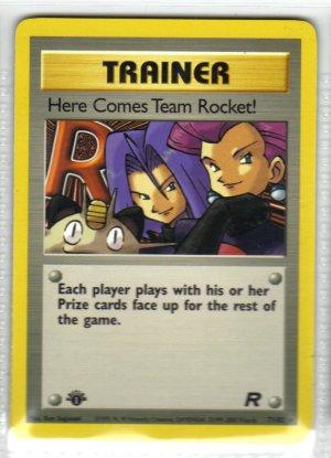 Pokemon Card Team Rocket Trainer Here Comes Team Rocket