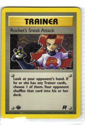 Pokemon Card Team Rocket Trainer Rocket's Sneak Attack