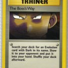 Pokemon Card Team Rocket Trainer The Boss's Way