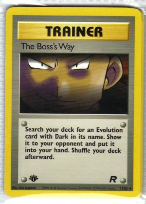 Pokemon Card Team Rocket Trainer The Boss's Way