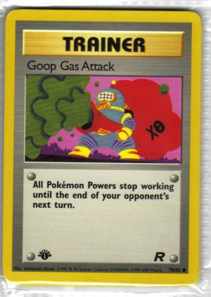 Pokemon Card Team Rocket Trainer Goop Gas Attack