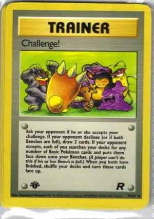 Pokemon Card Team Rocket Trainer Chalenge!