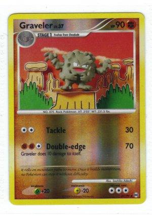 Pokemon Card Platinum Arceus Rev Holo Graveler 37/99