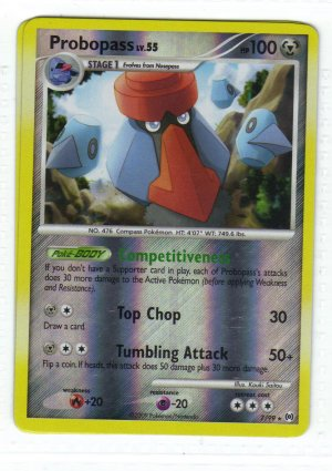 Pokemon Card Platinum Arceus Rev Holo Probopass 7/99