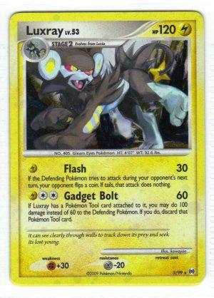 Pokemon Card Platinum Arceus Holo Luxray 5/99