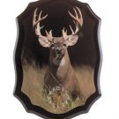 Beautiful Standing White Tail Buck Clock NEW NIB