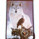 Beautiful Eagle And Wolf Clock NEW NIB