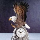 Beautiful Porcelain Eagle Clock NEW NIB