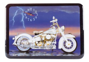 American Classic Motorcycle Clock NEW NIB