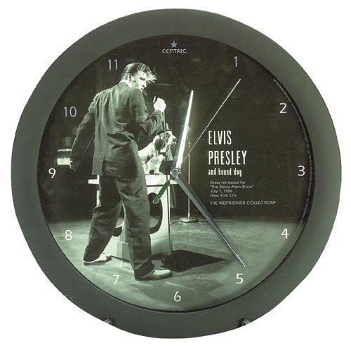 Elvis Presley And Hound Dog Clock NEW NIB