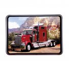 Red Big Rig Truck Wall Clock NEW NIB