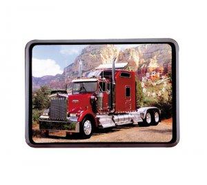 Red Big Rig Truck Wall Clock NEW NIB