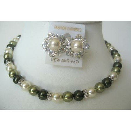 BRD313  Genuine & Real Gift Bridesmaids Mother Of Bride & Groom Genuine Swarovski Pearls Necklace