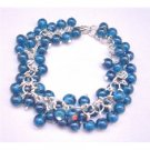 TB672  Dark Blue Bracelet Smashing Beads Bracelet