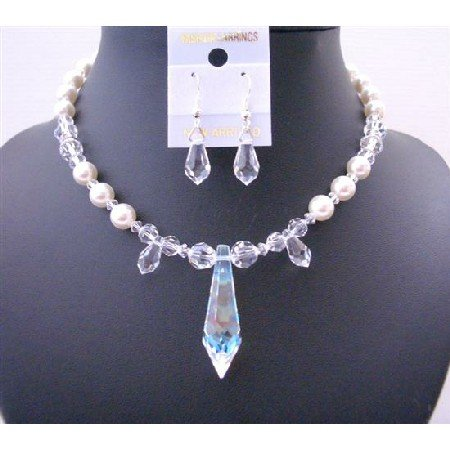 BRD456  Custom Bridemaides Handcrafted Genuine Swarovski Clear Crystals & White Pearls w/ Crystals