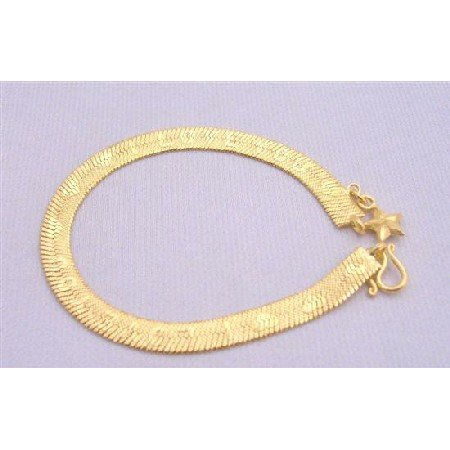 TB214  Love You GOld Plated Bracelet Very Sleek Dainty w/ Heart & word Love YouLong Bracelet
