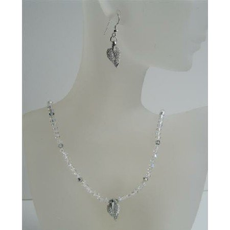 NSC425  Custom Handcrafted Jewelry Genuine AB Crystals Swarovski AB Crystals Necklace Set