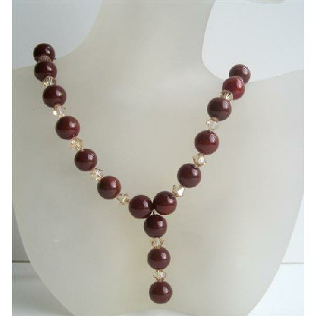 N531  Handcrafted Custom Jewelry Carnelian Beads w/Swarovski Ceylon Beaded Crystals Necklace
