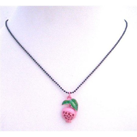 UNE202  Fruit Pendant Choker Necklace