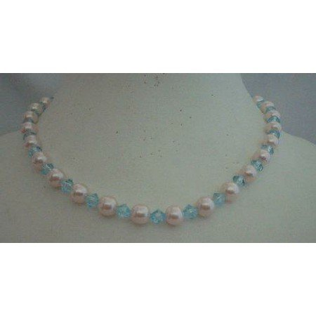 U094  Necklace Culture Pearls & Crystals Choker Necklace