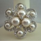B025  Bridal Jewelry Brooch Pearls Brooch Pin For Bridal Bridesmaides Brooch Dress