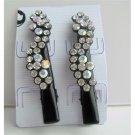 HA106  Black Hair Pin Crystals Flower Pair Hair Pin/Clip Crystals Hair Accessories Pair