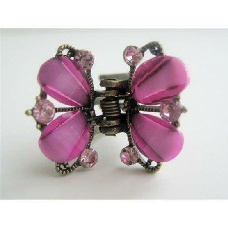 HA076  Hair Clip Butterfly Catcher Hair Clip