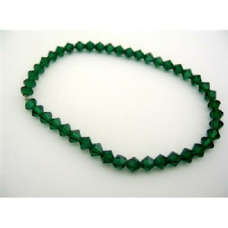 TB320  Tahitan Green Crystals Jewelry Genuins Swrovski Tahitan Crystals Bracelet