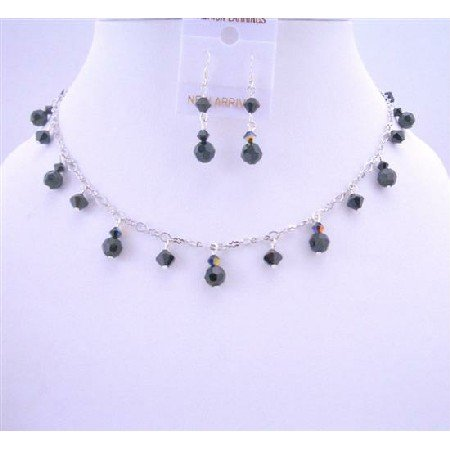 BRD633 AB Swarovski Crystals And White Pearls Exclusive Bridal Jewelry Sets