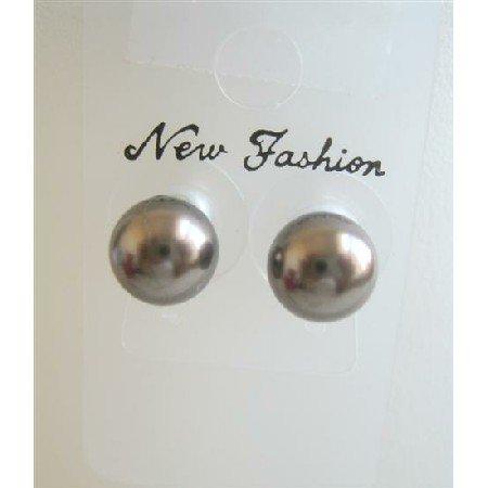 UER003  Swarovski Dark Brown Pearls 8mm Stud Earrings Genuine Swarovski Pearls Stud Earrings