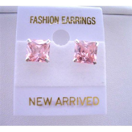 UER081  Rosaline Stud Earrings Prince Cut Stud Earrings