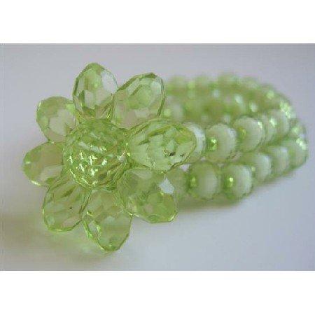 UBR124  Olive Beads Stretchable Bracelet Double Stranded Bracelet