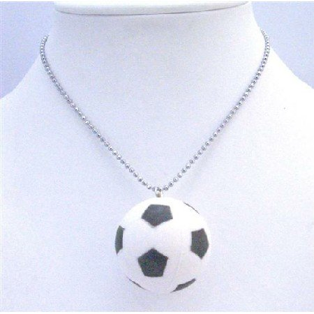 HH208  Sport Pendant Necklace Football Pendant Sport Jewelry Necklace FootBall Pendant