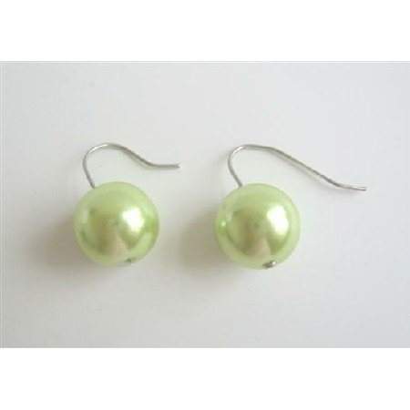 D038  Fancy Light Green Studs Earrings