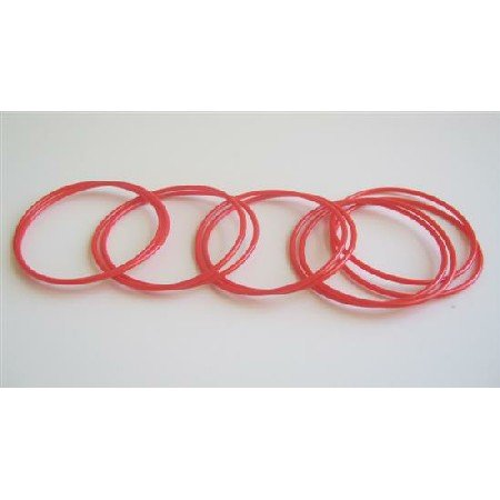 D033  Red Bangles Set Of 10 Bangles Girls Bangles