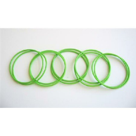 D066  Chilled Green Bangles Set Of 10 Green Bangles Just For $1