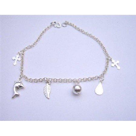 BR028  Sterling Silver Dangling Bracelet