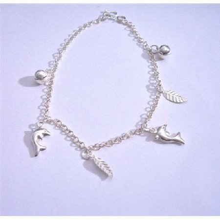 BR031  Jingle Bracelets Sterling Silver 92.5 Dangling Bracelet
