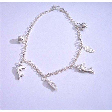 BR031  Jingle Bracelets Sterling Silver 92.5 Dangling Bracelet