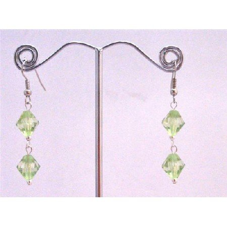 D166  Cheap Earrings Peridot Crystals Jewelry Simulated Peridot Crystals Dollar Earrings