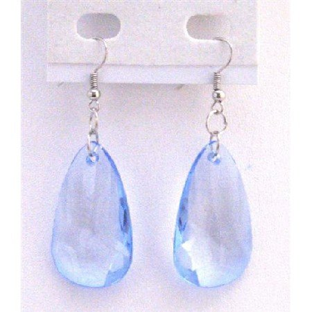 D178  Sapphire Polygan Jewelry Dollar Sapphire Blue Plygan Bead Hight Quality Dollar Earrings