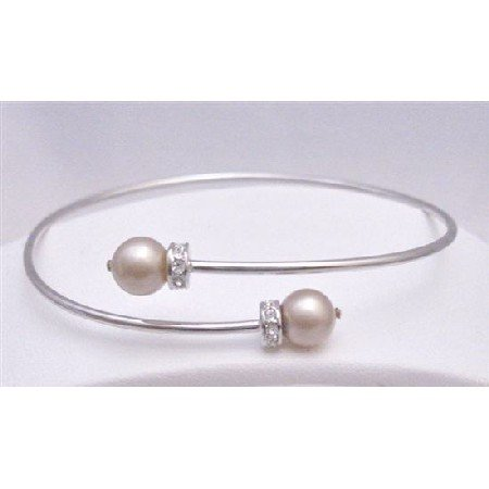TB771  Wedding Champagne Dress Jewelry Silver Comfortable Adjustable Cuff Bracelet