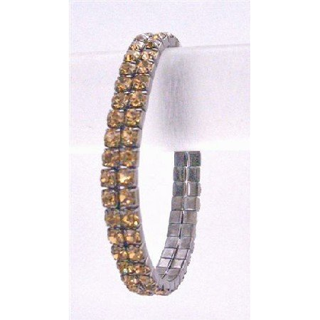 TB742 Bridemaides Colorado Dress Matching Colorado Cubic Zircon Stretchable Bracelet