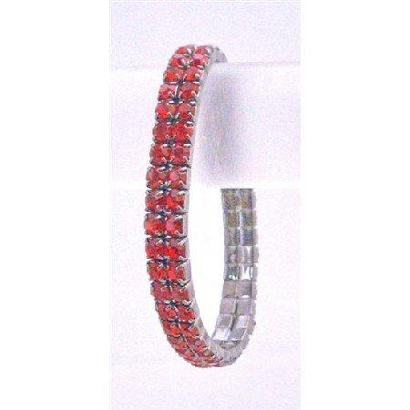 TB745  Cubic Zircon Stretchable Bracelet Passionate Red Comfortable Wear Bracelet