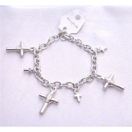 UBR194  Cross Charm Bracelet Chained Stylish Bracelet Gift Bracelet Christmas Jewelry